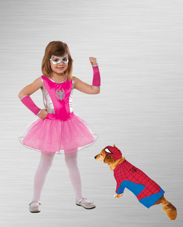 Spider-girl and Spider-man Dog Costume Ideas