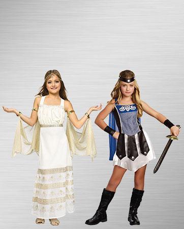 Girls Golden Goddess and Gladiator