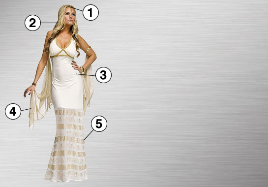 Goddess Costume Essential Features