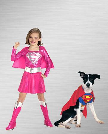 Supergirl and Superman Dog Costume Ideas