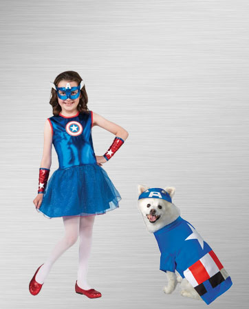 Captain America Kid and Dog Costume Ideas