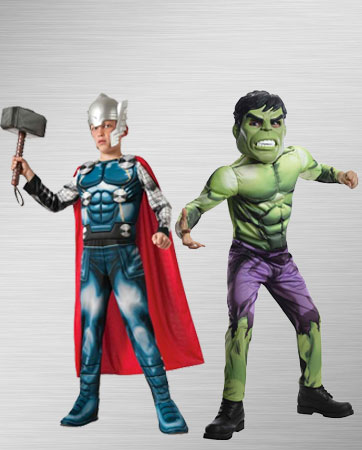Kids Thor and Hulk