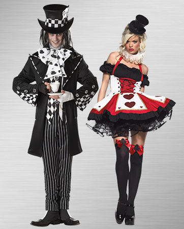 Mad Hatter and Red Queen Costume Ideas