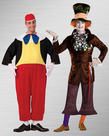 Mad Hatter and Tweedle Dum Costume Ideas