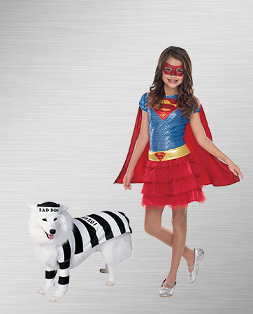 Supergirl and Prisoner Dog Costume Ideas