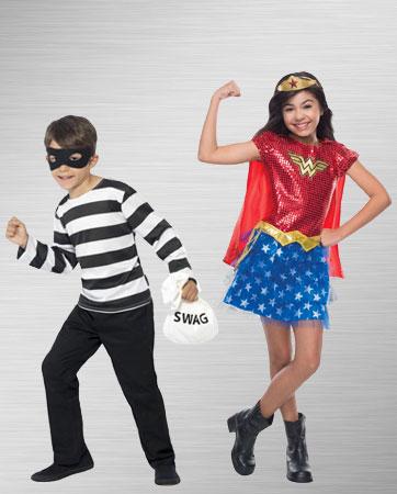 Criminal and Wonder Woman Costumes