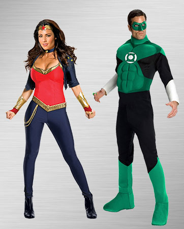 Wonder Woman and Green Lantern Costumes
