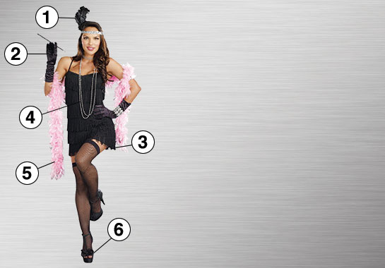 Flapper Costume Essential Features