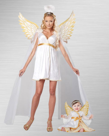 Angel and Angel Baby Costume Ideas