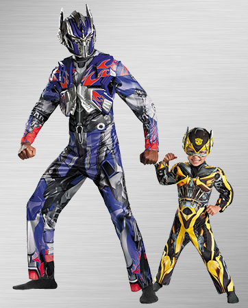 Adult Optimus Prime and Toddler Bumblebee Costumes