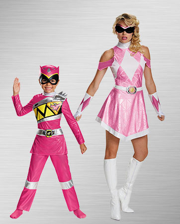 Adult Pink and Kids Pink Costumes