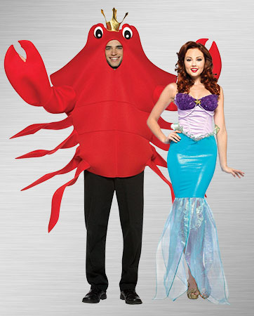 Crab and Ariel Costumes