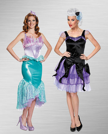 Ariel and Ursula Costumes