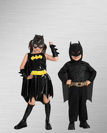 Boy Batman and Girl Batman Costumes