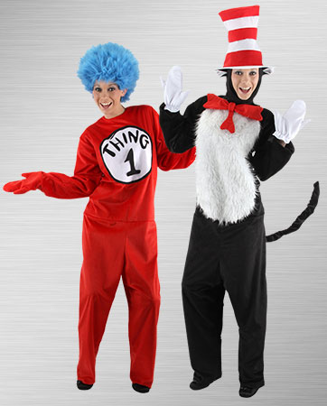 Thing 1 and Cat in the Hat Costumes