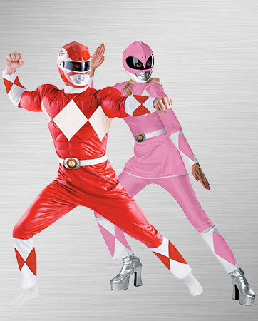 Classic Red and Classic Pink Power Ranger Costumes