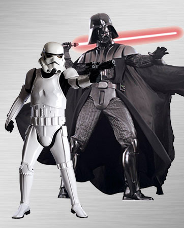 Men's Stormtrooper and Darth Vader Costumes