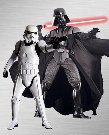 Men's Stormtrooper and Darth Vader Costumes