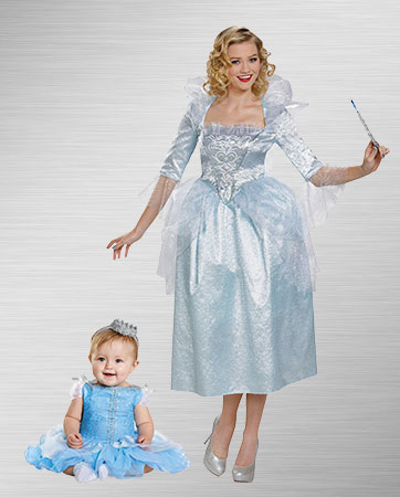 Fairy Godmother and Girl Cinderella Costumes
