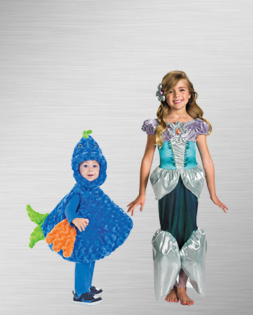 Boy's Fish and Girl's Ariel Costume