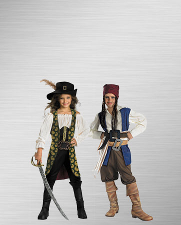 Boy Jack Sparrow and Girl Angelica Costumes