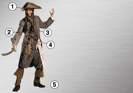 Ultimate Costume - Boy's Jack Sparrow