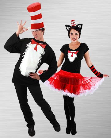 Cat in the Hat Couple Costumes
