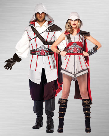 Adult Men/'s Assassin/'s Creed Connor Video Game Outfit Adult Halloween Costume