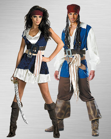 Femal and Male Jack Sparrow Costumes