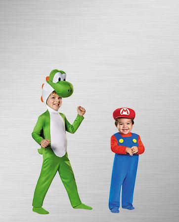 Mario and Yoshi Costumes