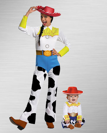 Mom Jessie and Baby Jessie Costumes