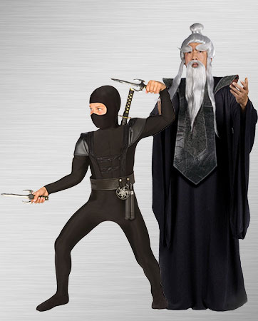 Boy's Ninja and Men's Sensei Costumes