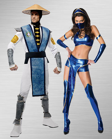 Men's Raiden and Women's Kitana Costumes