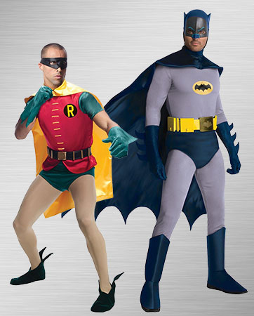 Men's Batman and Men's Robin Costumes