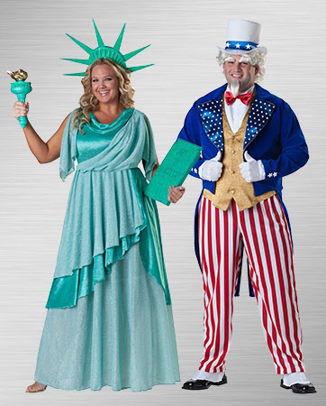 Uncle Same and Lady Liberty Costumes