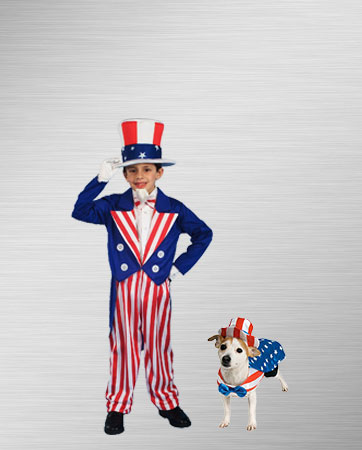 Uncle Sam and Uncle Same Dog Costumes