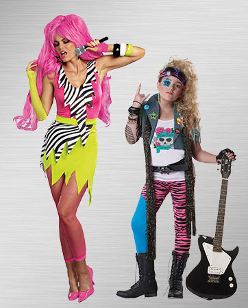 Woman Rock Star and Rocker Girl Costumes