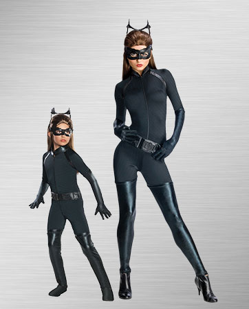 Adult Catwoman and Child Catwoman Costumes