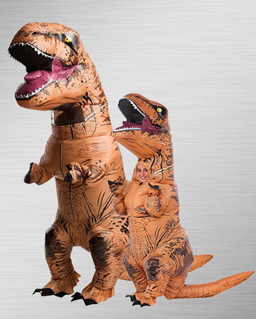 Child T-Rex and Adult T-Rex Costumes