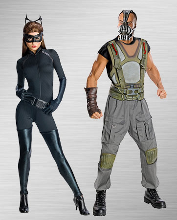 Adult Catwoman and Men's Bane Costumes