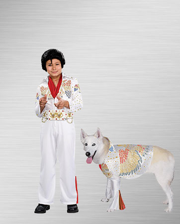 Elvis Child and Elvis Dog Costumes