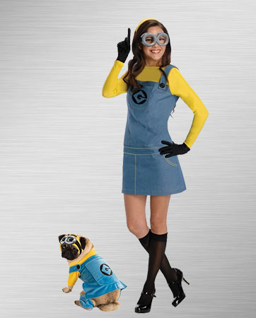 Despicable Me Dog and Adult Costumes