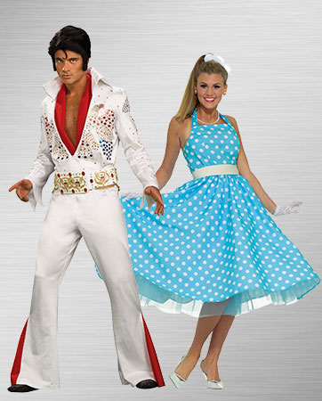 Elvis and 50's Woman Costume