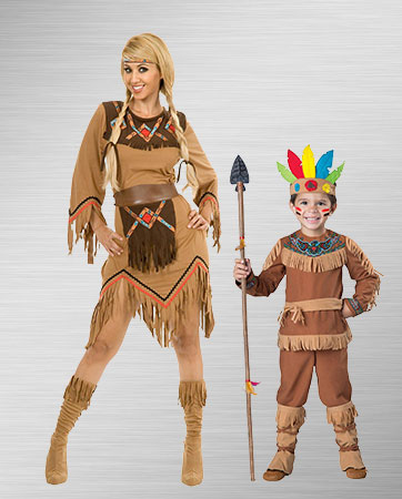Indian Boy and Indian Mother Costumes