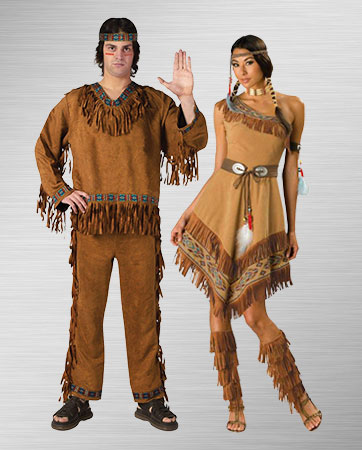 Indian Man and Woman Costumes