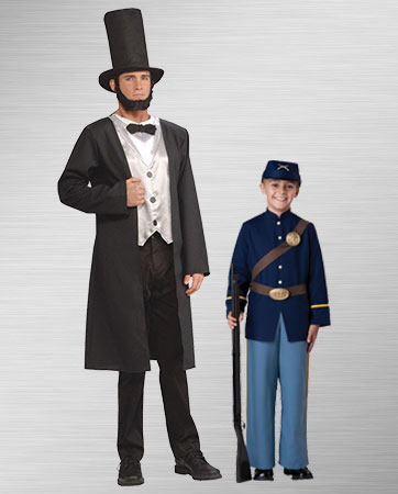 Abe Lincoln and Civil War Soldier Costumes