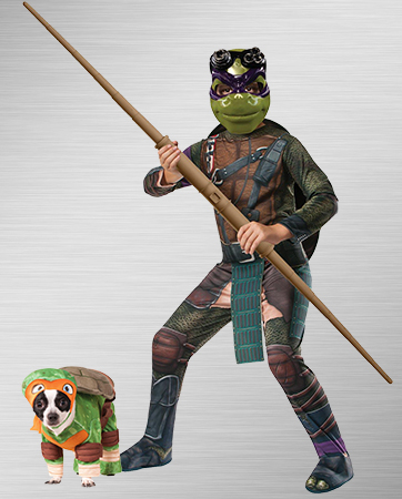 Michelangelo and Donatello Dog Costumes