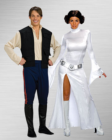 Princess Leia and Han Solo Costumes