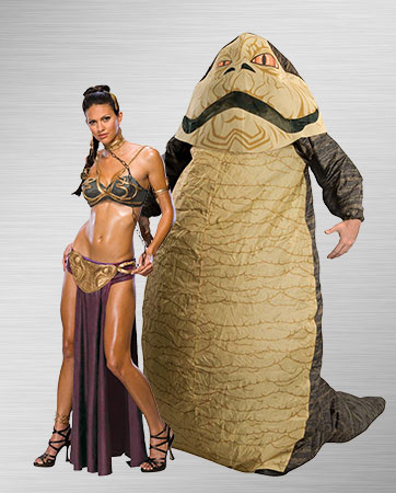 Princess Leia Slave and Jabba Costumes