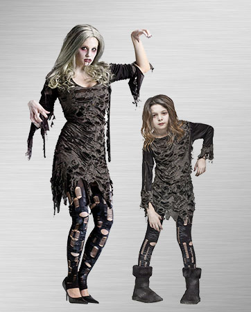 Living Dead Mom and Daughter Costumes